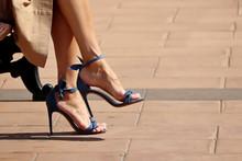 Stiletto Heels, Female Feet In...