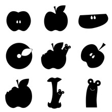 Collection Of Black Apple Icon...