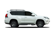 Large SUV On A White Background
