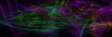 Abstract Iridescent Striped Pa...