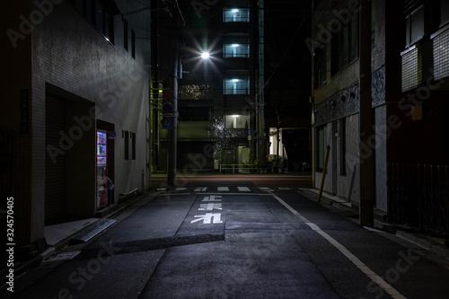 夜の街 Wallpaper Mural