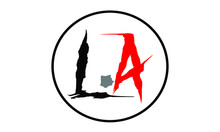 L And A Logo Of Circle Shape W...