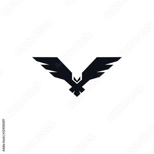 Photo Hawk black icon on white background