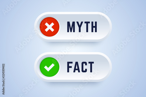 Cuadros en Lienzo Myth and fact buttons