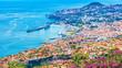 Leinwandbild Motiv The capital of Madeira Island - Funchal city
