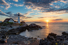 Sunrise At Portland Head Light...
