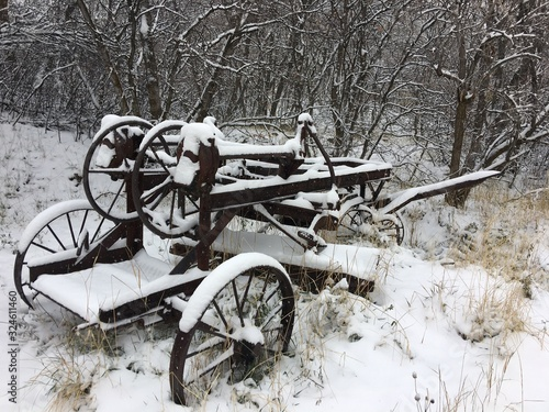 Fototapety, obrazy: Snow on Old Equipment