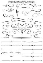 Vintage Swirls, Decorations, T...