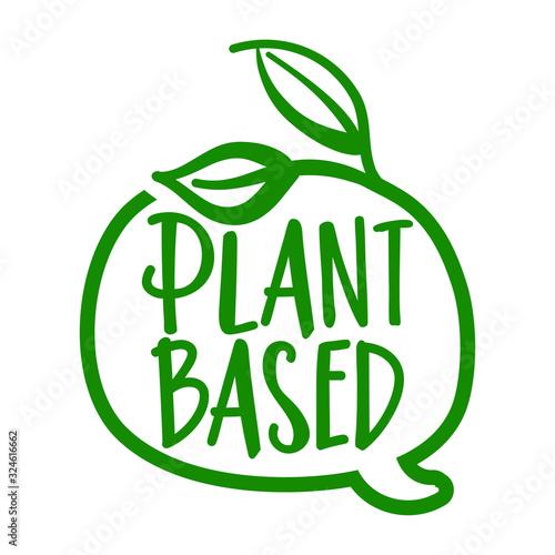 Stampa su Tela Plant based - logo in speech bubble
