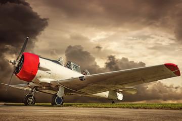 povijesni zrakoplov u retro stilu