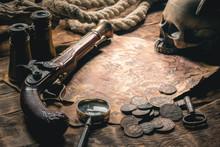 Pirate Treasure Map And Human ...