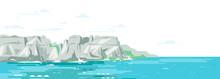 Rocky Cliffs Ocean Landscape B...