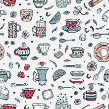Hand Drawn Doodle Coffee Cups ...