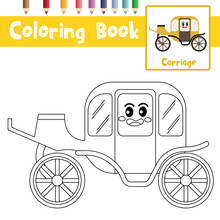 Coloring Page Carriage Cartoon...