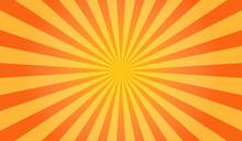 Sunburst Vector. Sun Rays Yell...