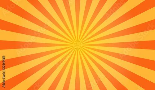 Obraz Sunburst vector. Sun rays yellow background - fototapety do salonu