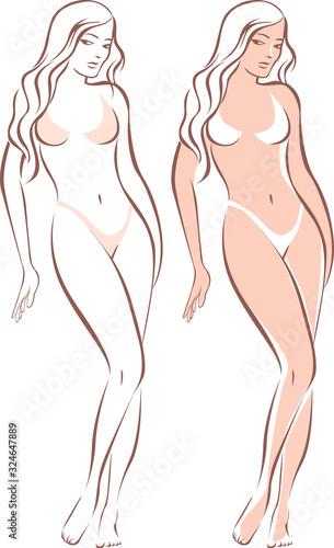 Obraz Beautiful female standing figure - fototapety do salonu