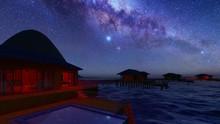Bungalow Resort On Island, Fre...