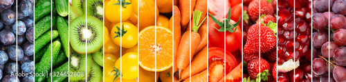 Fototapeta owoce   background-of-fruits-and-vegetables-food-rainbow