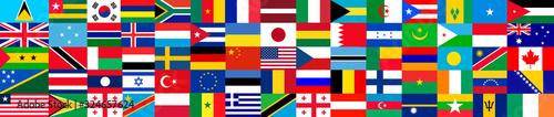 Obraz Flags of the world - fototapety do salonu