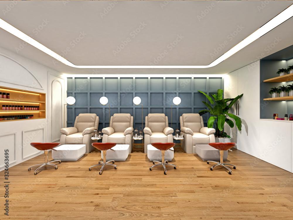 Fototapeta 3d render of spa beauty massage room