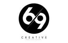 69 6 9 Number Logo Design With...
