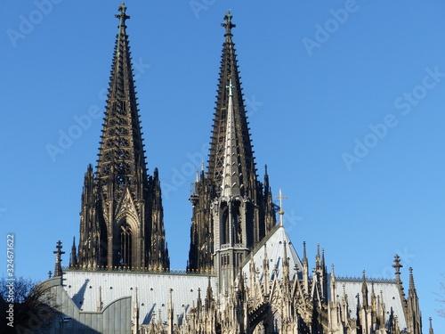 Photographie Türme Dom in Köln am Rhein