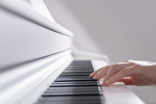 Stylish Photo, Female Hands Play The Piano