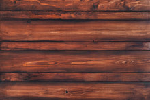 Wooden Texture, Plank Grain Background Mahogany, Striped Timber Desk. Old Table, Floor, Brown Boards. Redwood, Copy Space.