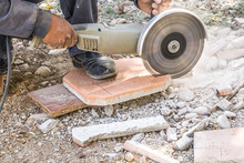 Paving Stone Cutting With Hand...