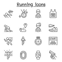 Running Competition Icon Set I...