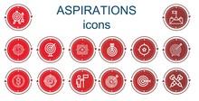Editable 14 Aspirations Icons ...