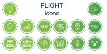 Editable 14 Flight Icons For W...