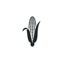 Corn Icon Vector Sign Isolated...