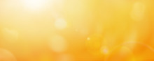Bright Yellow And Gold Bokeh Summer Sun Abstract Sky Background.