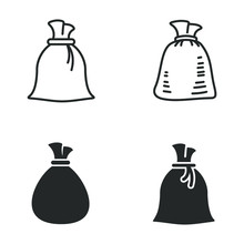 Money Bag Icon Template Color ...