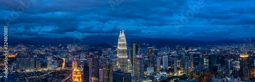 Photo panoramic city skyline in kuala lumpur