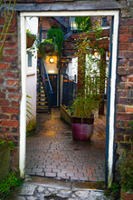 Alley In Old Town Of Ripon UK