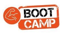 Stamp BOOT CAMP Vector Illustration