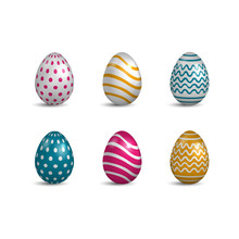 Set Of Easter Hand-painted Egg...