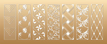 7 Laser Cut Vector Panels (rat...