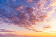 canvas print picture - Beautiful sunset, majestic clouds in the sky