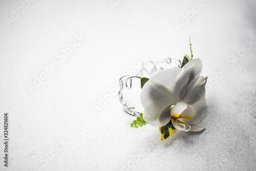 Photo Floral woman composition as a bracelet