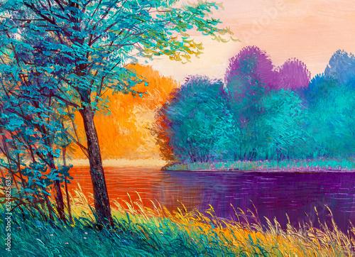 obraz-olejny-pejzaz-piekna-rzeka