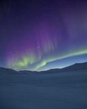 Fototapeta Tęcza - A night view from the desert with rainbow