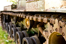 Military Tank Tracks And Gears