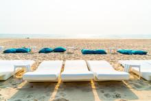 Beach Bean Bag  With Sea Backg...