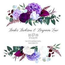 Elegant Seasonal Dark Flowers Vector Design Wedding Frame