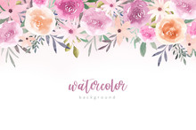 Watercolor Flowers Background ...