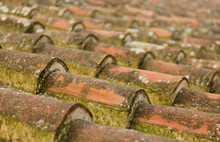 Old Roof Tiles In Greece